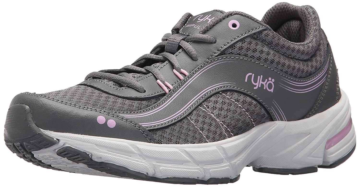 Ryka Women's Impulse Walking Shoe B0721L13F3 10.5 B(M) US|Grey/Pink