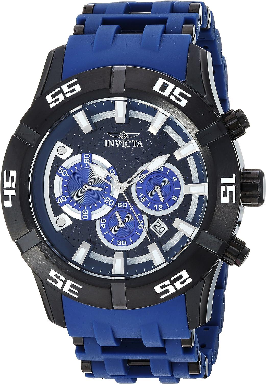 Invicta Men's 50mm Sea Spider Collection Chronograph Black Polyurethane Bracelet Stainless Steel Watch