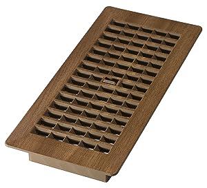 Decor Grates PL410-MTG 4-Inch by 10-Inch Plastic Floor Register, Tan Mahogany