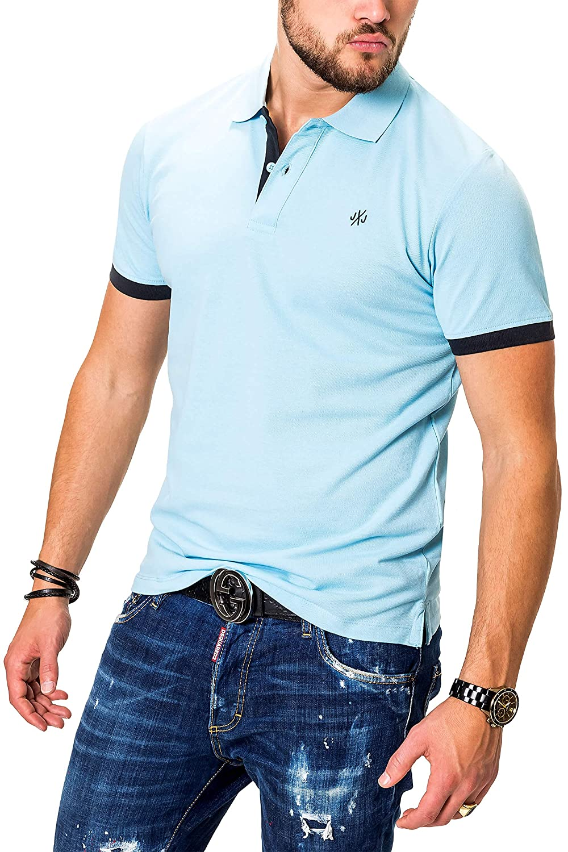 JACK /& JONES Polo para Hombre Camiseta Camisa Manga Corta Unicolor