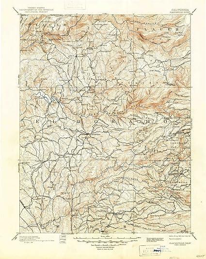 Placerville California Map.Amazon Com Yellowmaps Placerville Ca Topo Map 1 125000 Scale 30 X