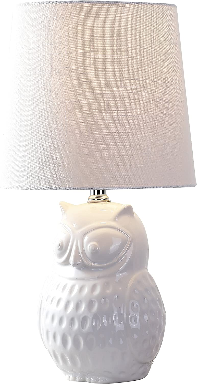 Jonathan Y Jyl1026a Hoot 20 5 Ceramic Mini Led Lamp Cottage Transitional For Bedroom Living Room Office College Dorm Coffee Table Bookcase White Amazon Com