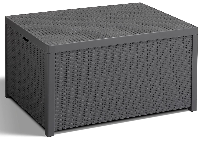 Allibert 220002 Monaco Table lounge/coffre à coussins en plastique ...