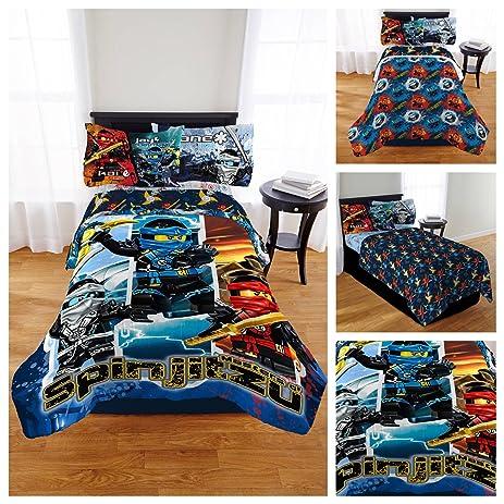 Amazon.com: Lego Ninjago Comforter & Bedding Sheet Set - Twin: Home ...