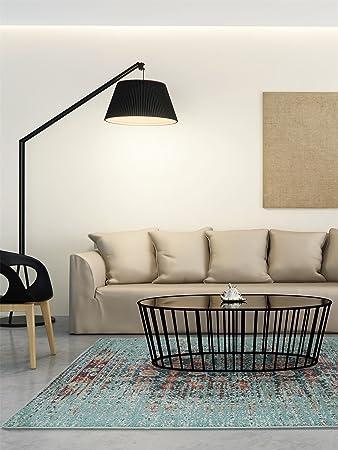 Benuta Teppich benuta teppich casa kunstfaser türkis 120 x 170 0 x 2 cm amazon