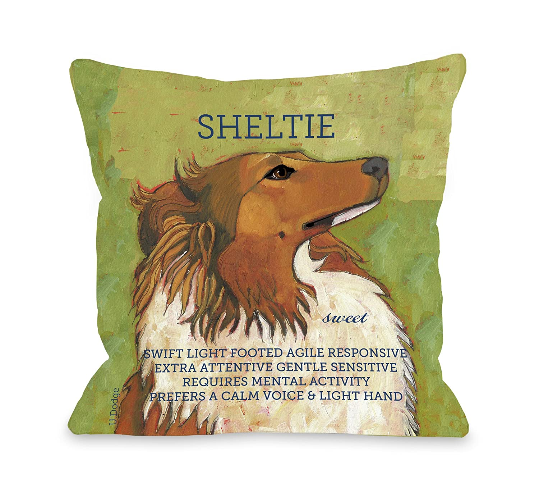 18 by 18-Inch Pillow Bentin Pet Décor 10246PL18 One Bella Casa Sheltie 2
