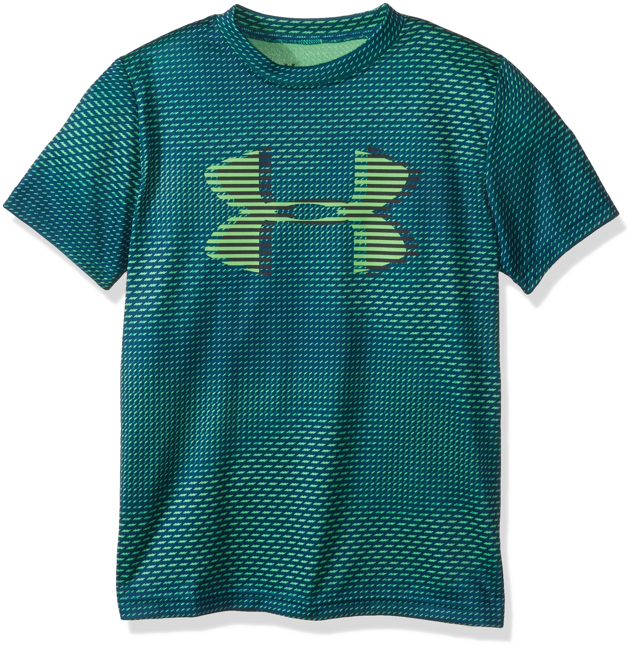 Under Armour Boys' Tech Big Logo Printed T-Shirt, Arena Green (701)/Academy, Youth X-Small by Under Armour