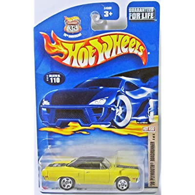 Hot wheels '70 plymouth roadrunner highway 35 rare item 35th anniversary Yellow car: Toys & Games
