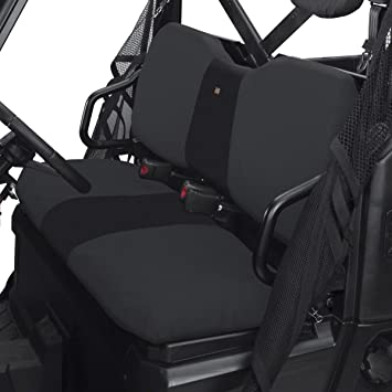 Black Compatible with 08-09 Polaris SPORTS300 Quad Works Standard Seat Cover