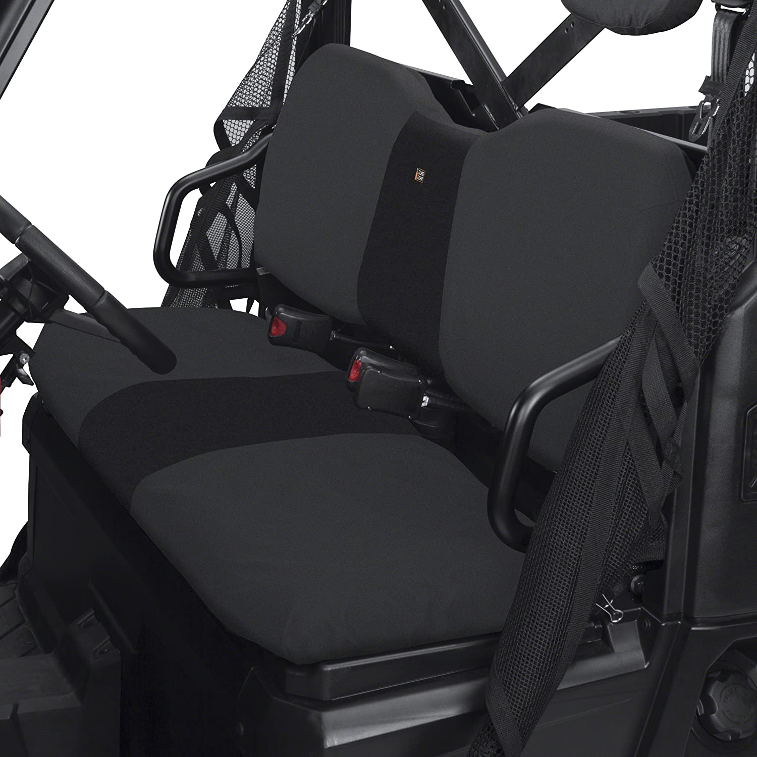 Classic Accessories 18-026-010401-00 QuadGear UTV Seat Cover for Polaris Ranger XP/HD (Bench), Black