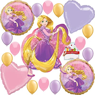 Rapunzel Party Supplies Birthday Princess Tangled Balloon Decoration Bundle: Toys & Games