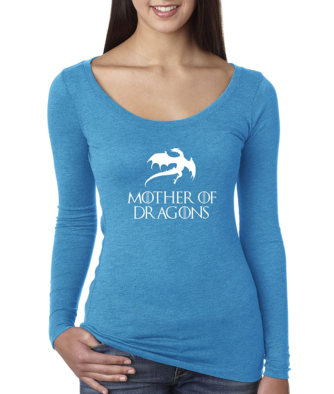 Turquoise Trendy USA 691  Women's Long Sleeve TShirt Mother of Dragons Game of Thrones Targaryen