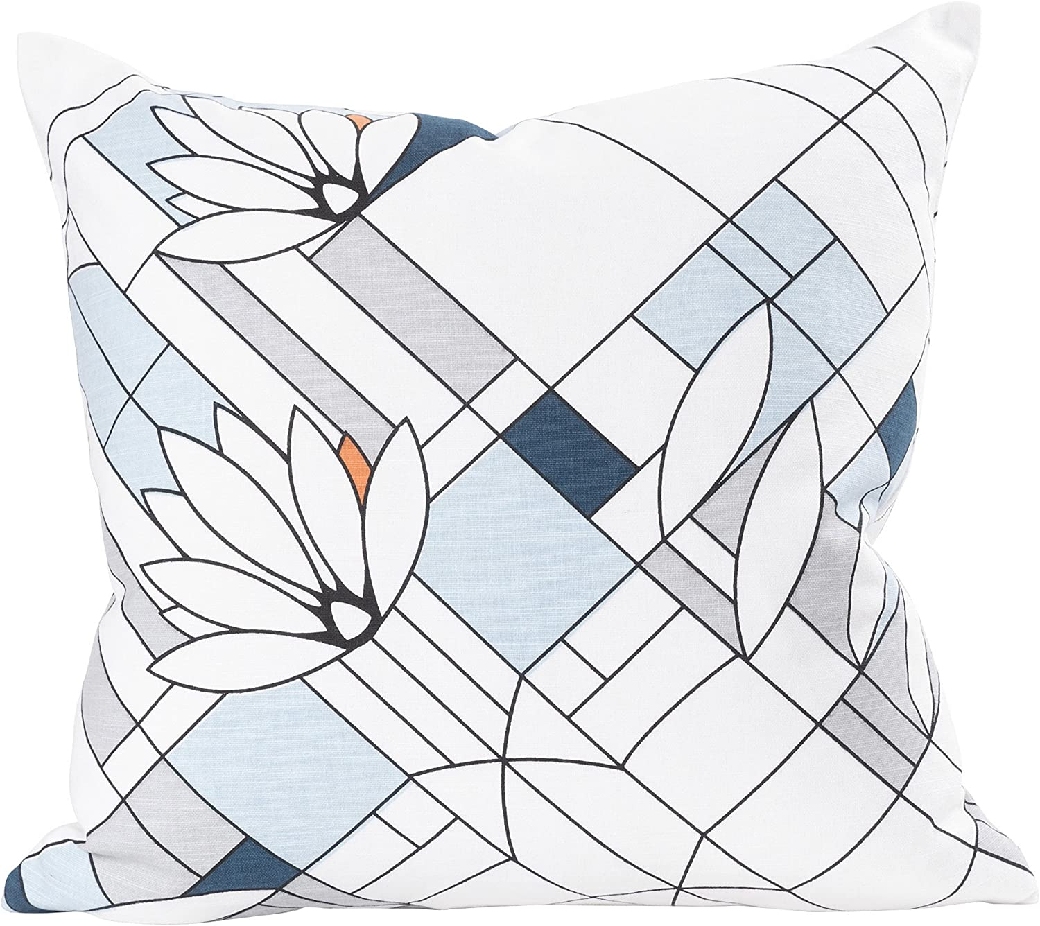 Blue Set of 2 KAF Home Bold Stripe Pillow Cover 20 x 20-inch 100-Percent Cotton