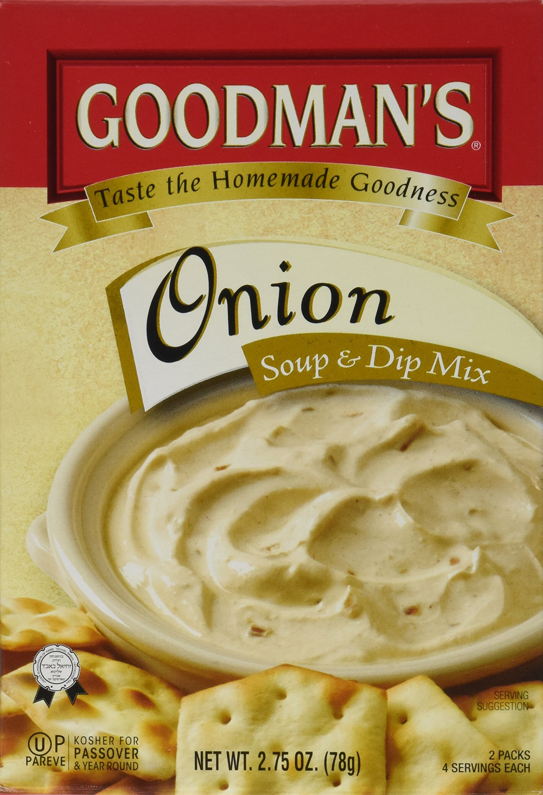 Goodman's Onion Soup & Dip Mix, 2.75-ounce Pouch (Pack of 8) by Goodman's