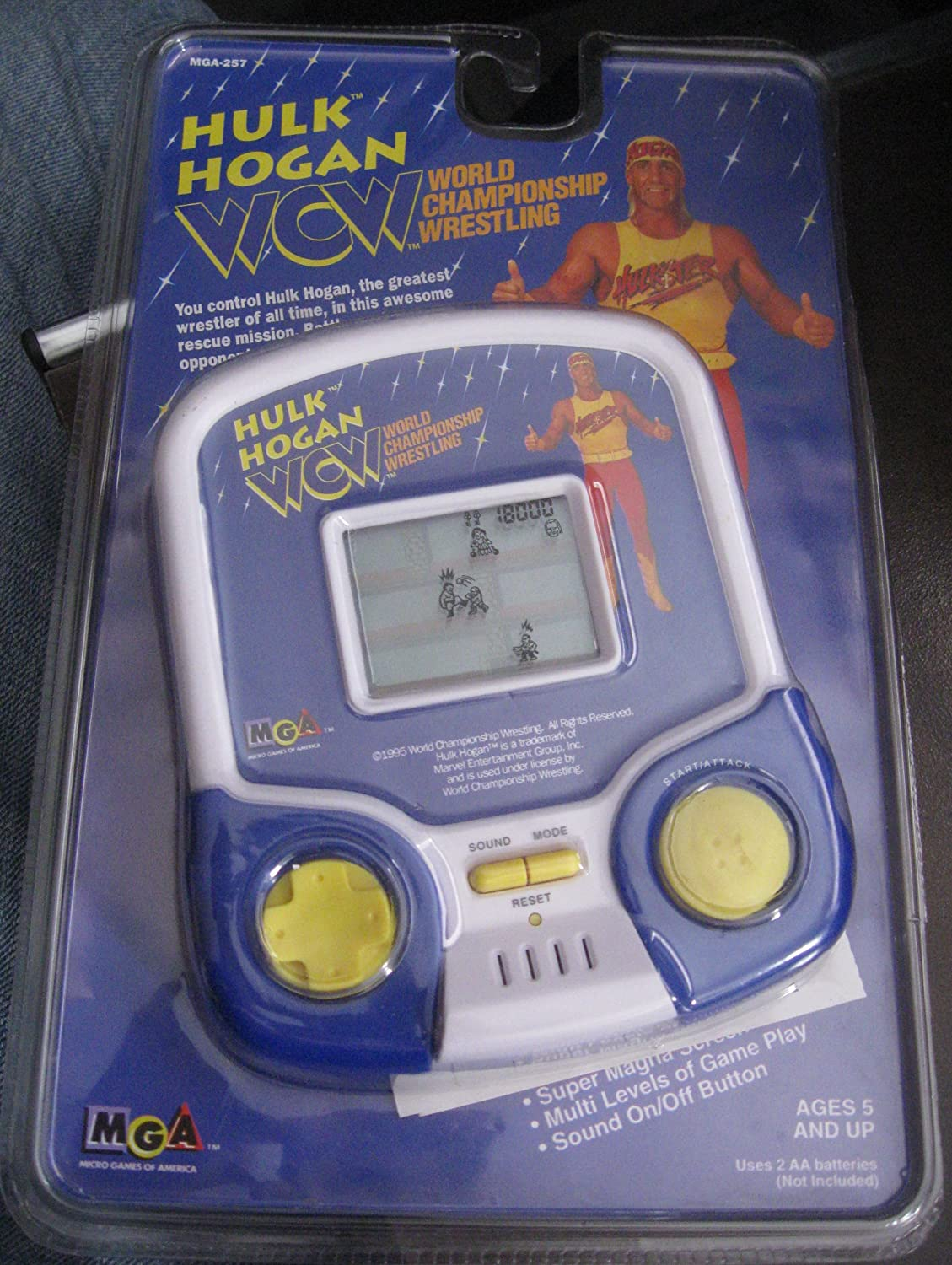 Hulk Hogan's WCW Electronic Handheld Wrestling Game by MGA B006AT1QKI