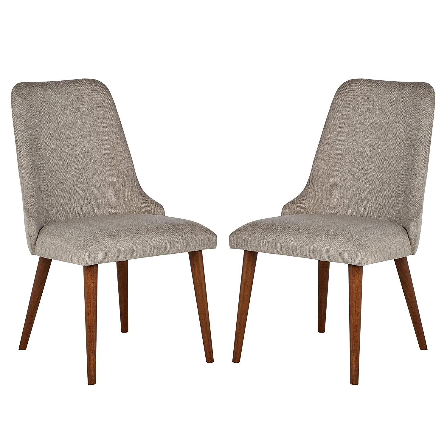 Amazon com rivet federal mid century modern wood dining chair pack of 2 grey kitchen dining