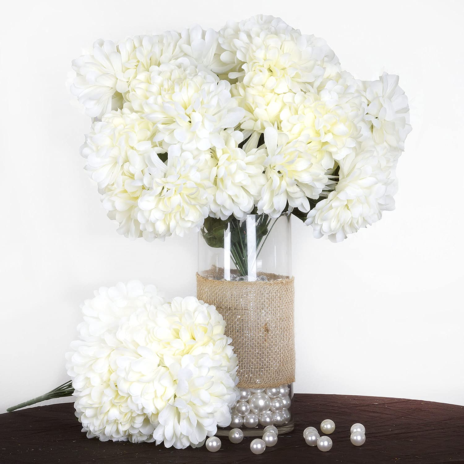 Amazon.com: Tableclothsfactory 56 Large Chrysanthemum Mums Balls ...