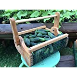 garden hod. Fairfield Garden Products Small Harvest Fruit Basket | Rust Proof Wire Mesh With Folding Handle Hod
