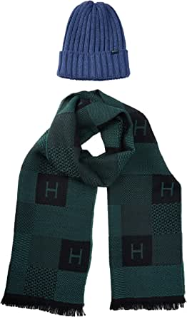 Hackett London H Chk Scarf&beanie Set conjunto bufanda, gorro y guantes (Pack de 2) para Hombre
