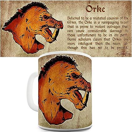 Trenzado Envy definición de un Orc cerámica taza divertida