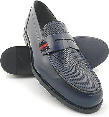 Zerimar Zapatos Castellanos Hombre | Mocasin Antifaz Hombre | Mocasines Hombre| Zapatos Hombre Vestir Color Azul Marino | Fabricados en España: Amazon.es: Zapatos y complementos