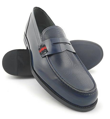 Zerimar Zapatos Castellanos Hombre | Mocasin Antifaz Hombre | Mocasines Hombre| Zapatos Hombre Vestir Color Azul Marino: Amazon.es: Zapatos y complementos