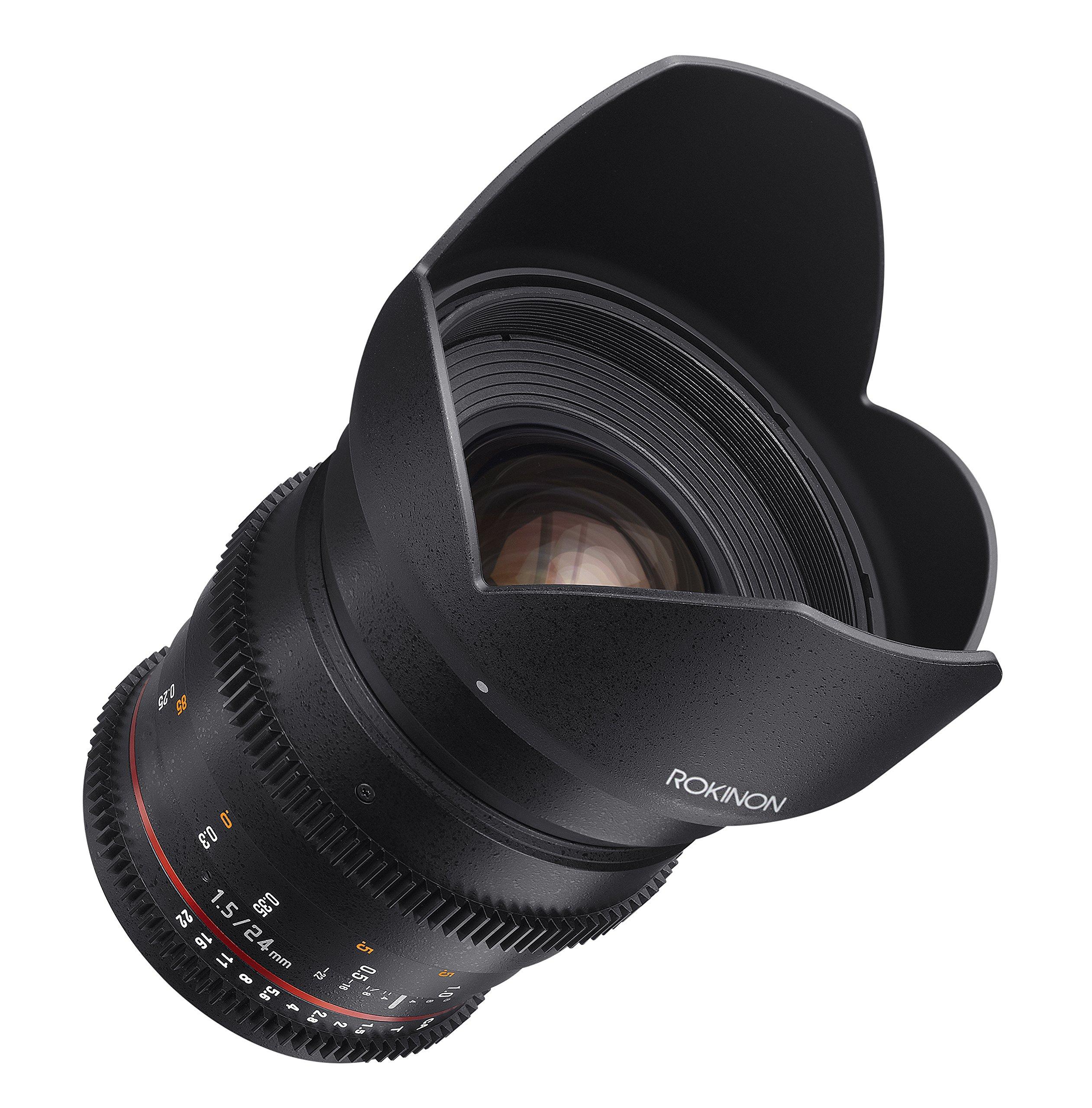 Rokinon Cine DS DS24M-N 24mm T1.5 ED AS IF UMC Full Frame Cine Wide Angle Lens for Nikon by Rokinon