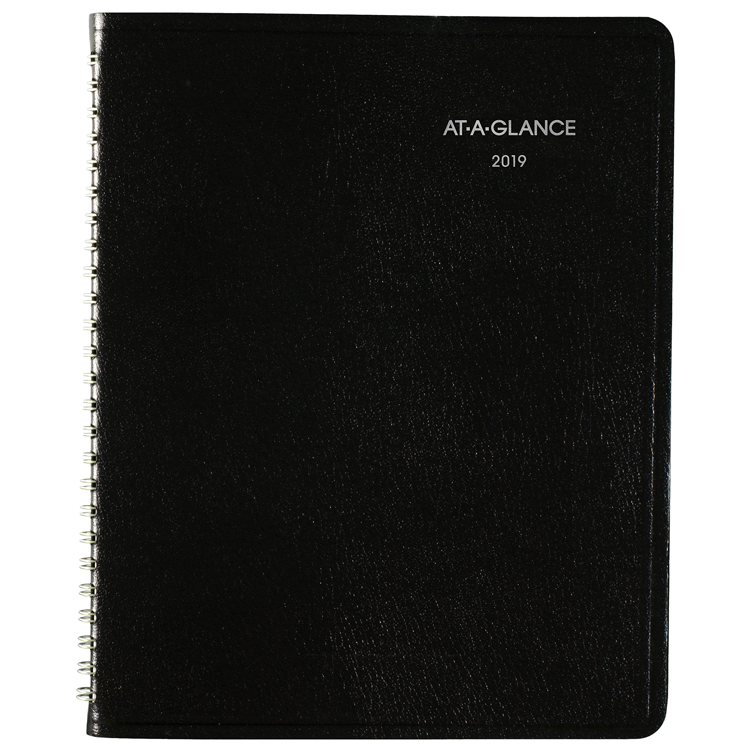 AT-A-GLANCE Weekly Planner, January 2019 - December 2019, DayMinder, Medium Size, Block Style, Black (G53500)