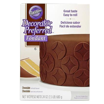 8b87c759eec Amazon.com: Wilton Decorator Preferred Chocolate Fondant, 24 oz. Fondant  Icing: Kitchen & Dining
