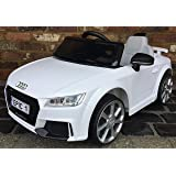 Kids Licensed Audi TT RS Sports Car with Remote Control 12v Electric / Battery Ride on Car - White