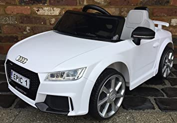 Kids Licensed Audi TT RS Sports Car With Remote Control 12v Electric /  Battery Ride On