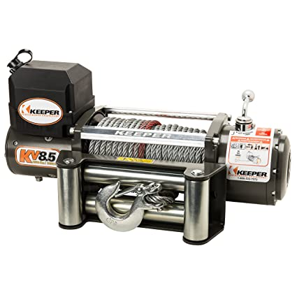 Amazon.com: Keeper KV8.5 12V DC Utility, Trailer and Recovery Winch - 8500 lbs. Capacity: Automotive