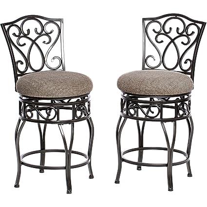 Stupendous Amazon Com Modhaus Living Classic Scroll Black Metal Machost Co Dining Chair Design Ideas Machostcouk