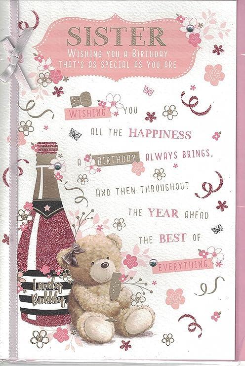 Tarjeta de cumpleaños~Hermana A hermana muy especial para ti ...