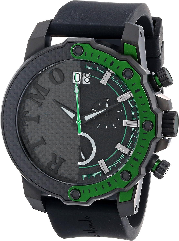 Ritmo Mundo Unisex 1201 7 Green Quantum Sport Quartz Chronograph Carbon Fiber and Aluminum Accents Watch