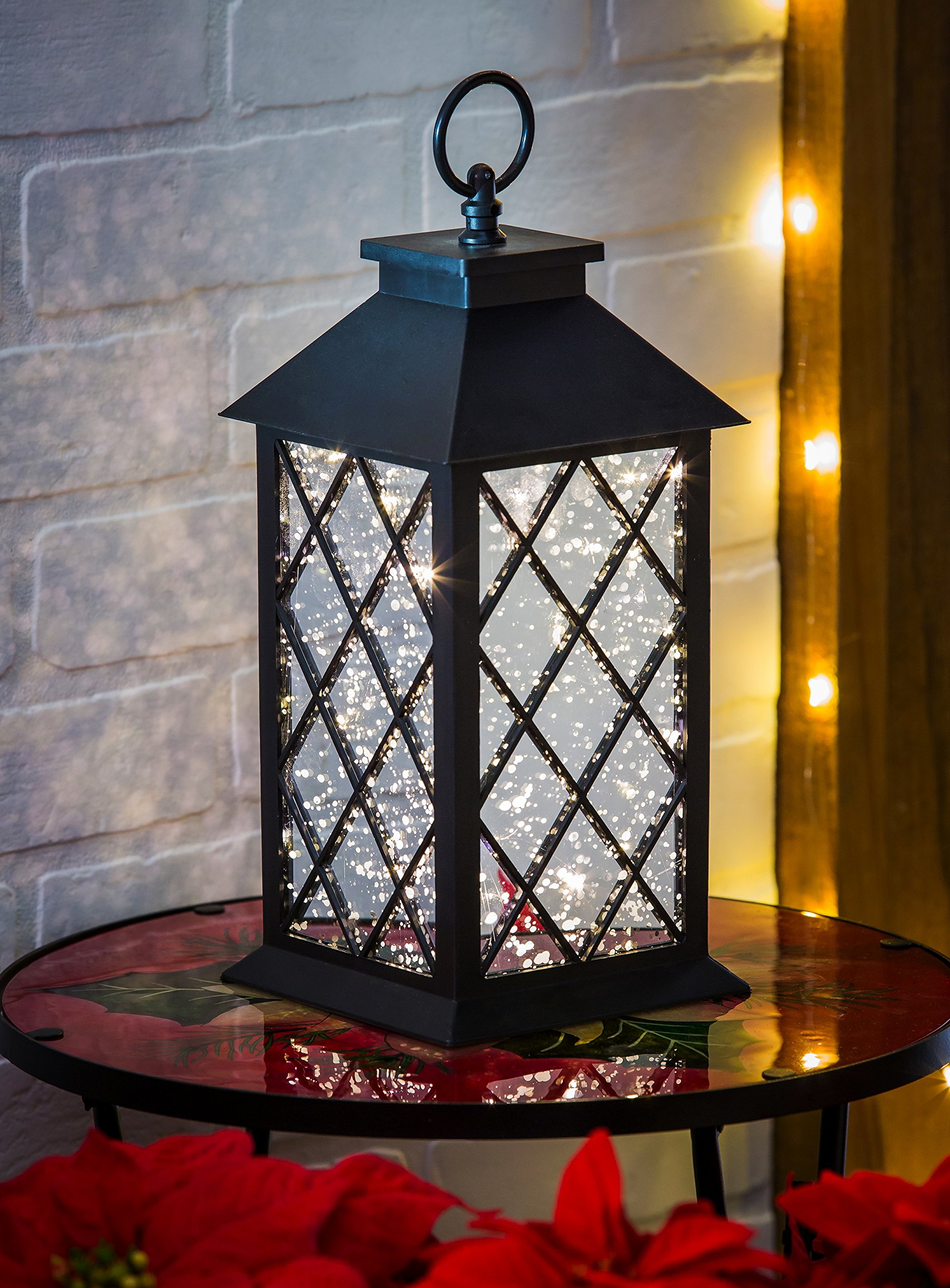 New Creative Black Lantern with Sparkling LED lights
