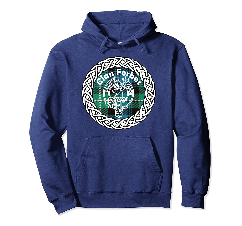 Forbes surname Scottish clan tartan crest badge Hoodie-Colonhue