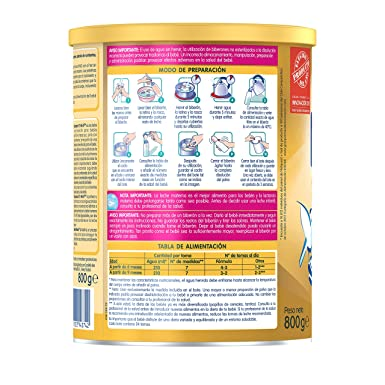 NAN SUPREME 2 - A partir de los 6 meses - Leche de continuación en polvo Premium - Fórmula para bebé - 800g - Sin Aceite de Palma: Amazon.es: Alimentación y ...