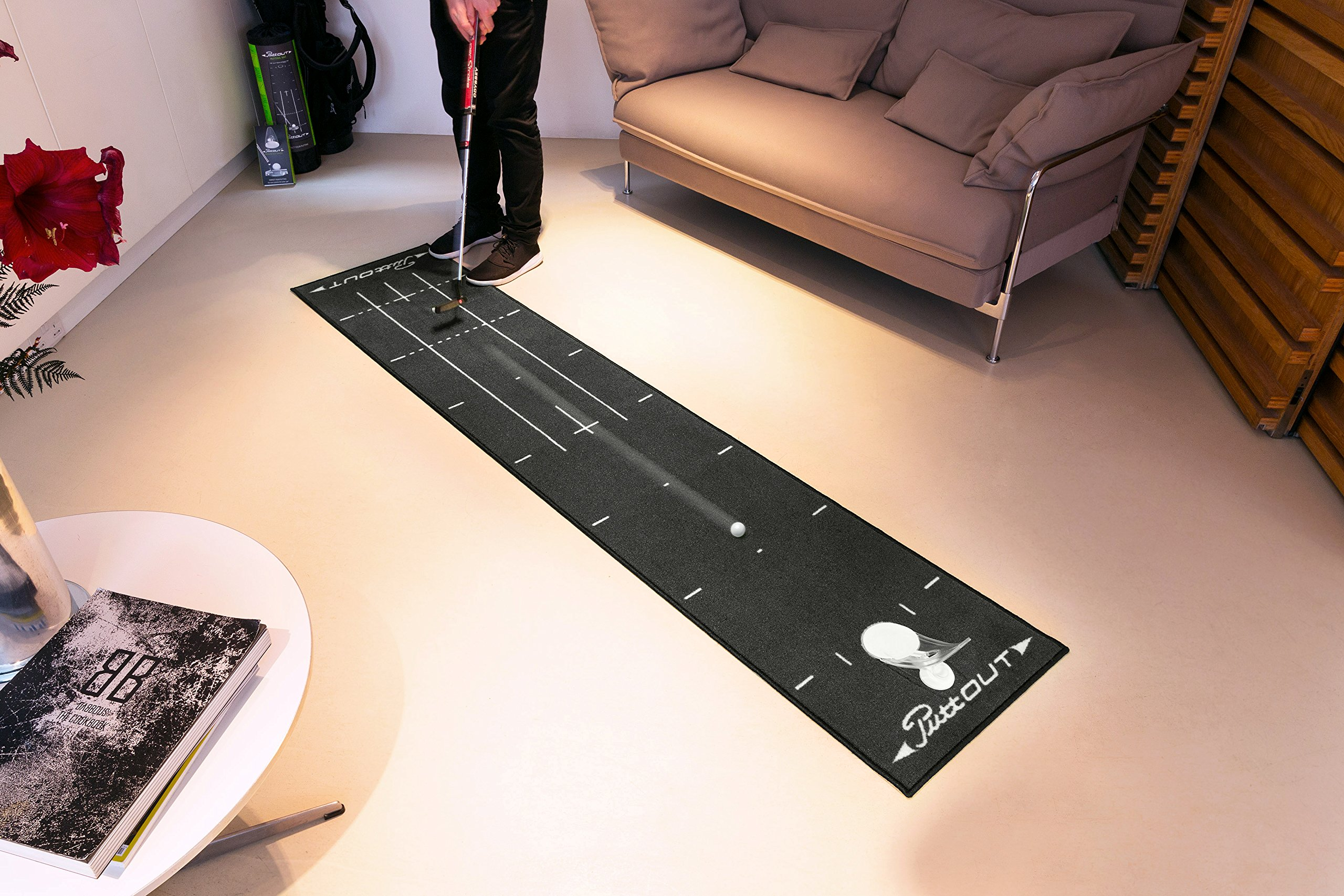 PuttOut Pro Golf Putting Mat - Perfect Your Putting (7.87-feet x 1.64-feet) by PuttOut (Image #7)