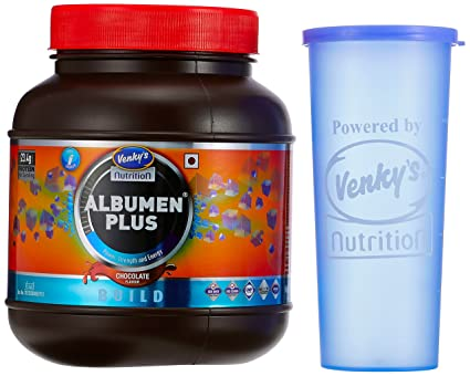 26e984d02 Venky s Albumen Plus - 1 kg (Chocolate) with Free Shaker  Amazon.in  Health    Personal Care