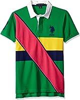 U.S. Polo Assn. Men's Slim Fit Diagonal Stripe Pique Shirt