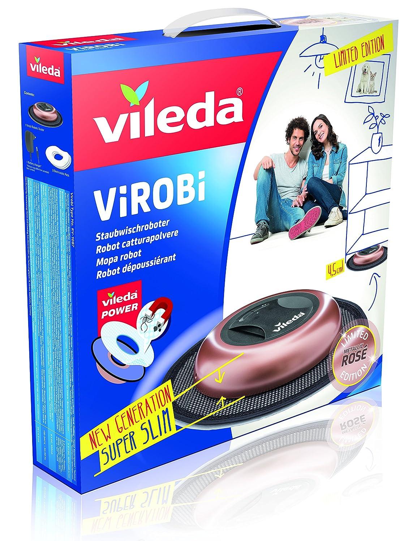 Vileda Virobi Slim - Robot limpiador mopa autónomo, color rose