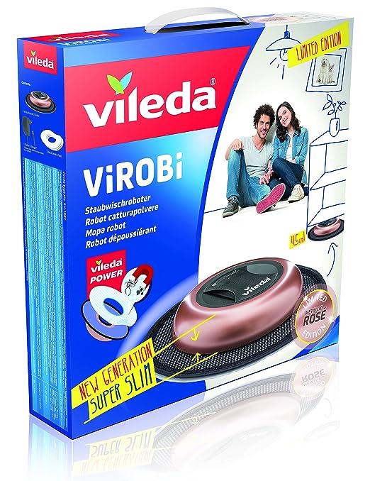Vileda Virobi Slim - Robot limpiador mopa autónomo, color rose: Amazon.es: Hogar
