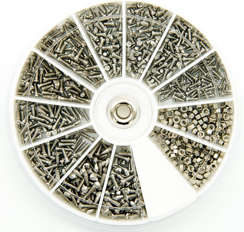 600 Stück Kleine 12 Arten Schrauben Muttern Elektronik Sortiment M1 M1.2 M1.4
