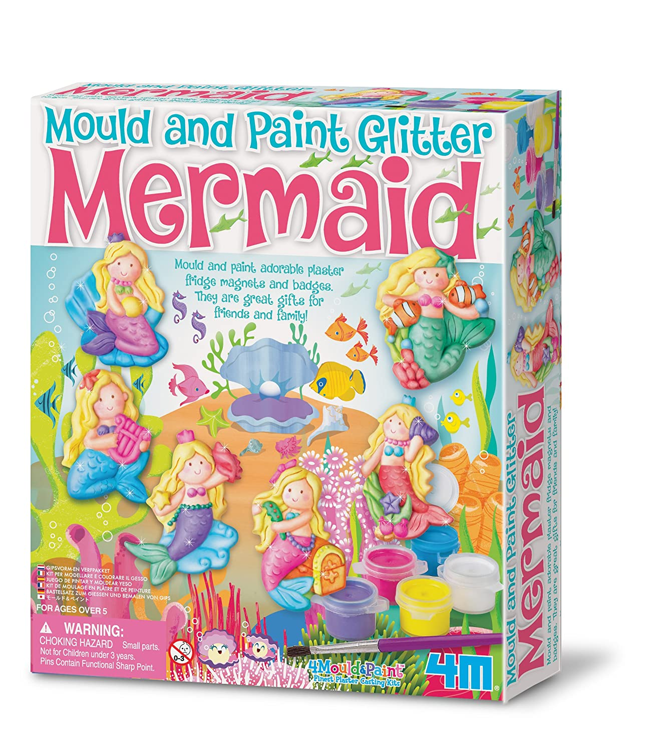 4M Glitter Mermaid Mould and Paint Great Gizmos 2016 Arts_and_Crafts Craft Kits