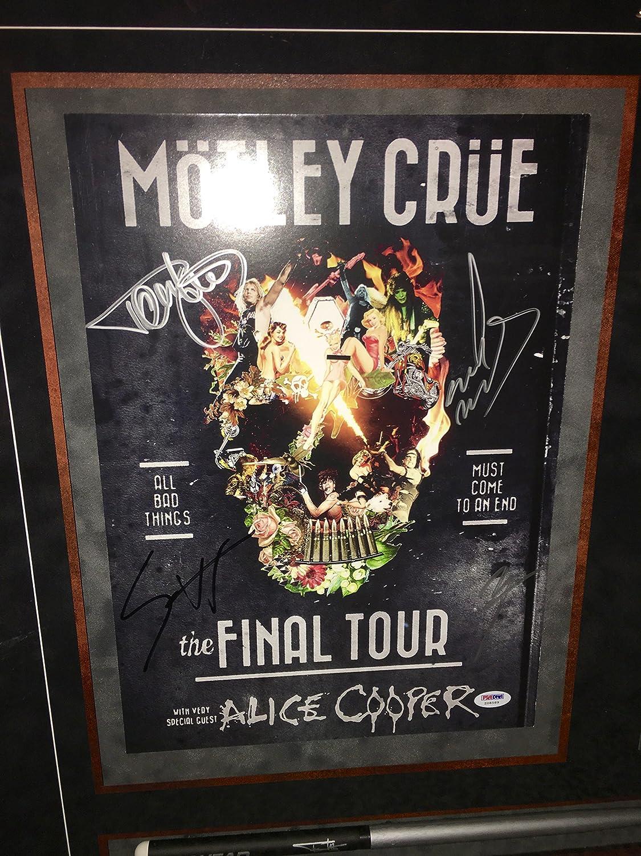 Motley Crue The Final Tour Signed Framed Autographed Tour Book Psa