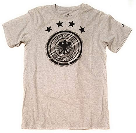 1f34b9382bc5 Image Unavailable. Image not available for. Color  adidas Germany Brushed Stripes  Tee- Grey S
