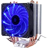 upHere C92B with 92mm PWM Fan, Four Direct Contact Heat Pipes, Unique Blade Design and Blue LEDs Cooling(C92B)
