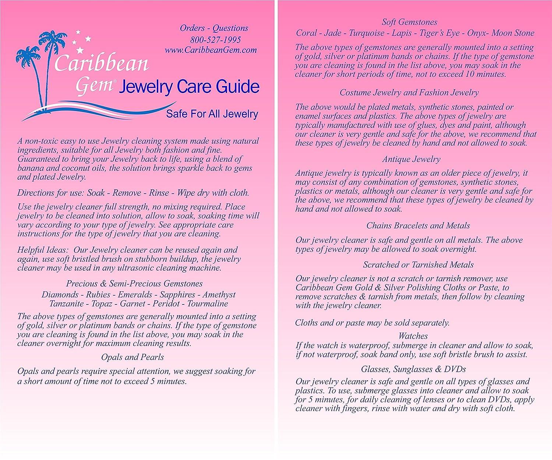 amazon com caribbean gem banana u0026 coconut oil jewelry cleaner
