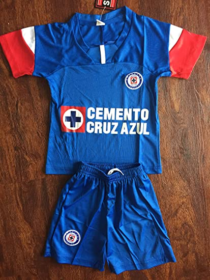 85d18f19c1e Amazon.com   New! Club deportivo cruz azul kids Jersey and Short Set ...